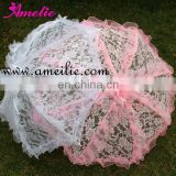 A0201 Back Youth Pink Lace Parasol