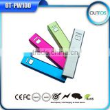 New Year Gift Lipstick Power Bank 18650 Battery Mobile Phone Travel Charger