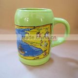 promotional beer mug with decal