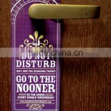 2015 Soft PVC plastic printed open closed door knob hanger sign