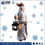 Christmas lanterns decor Garden Santas statue