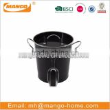 Black powder coating ice bucket mini