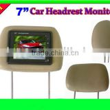Monitor Connect with DVD,VCD 7 inch Car Headrest Pillow