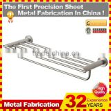 hotel style towel rack brushed nickel/towel bar/grab bar made in China