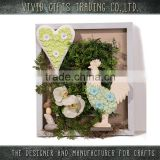 Ceramic different animals with leaf in hourse wall hanging