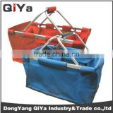 Wholesale Huge Capacity 6 Person Collapsible Folding Cardboard Picnic Baskets With Aluminium Frame