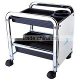 Pedicure wood trolley carts with wheels used nail salon equipment TKN-204