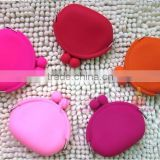 silicone rubber coin purse fancy non-toxic coin purse