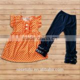 Cotton short-sleeved little girl set a variety of colors can be selected in the Chinese factory manufacturing