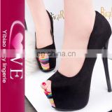 China wholesale simple style women latest fashion pencil high heel shoes