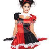 Women's Halloween Adult Harlequin Jester Fancy Dress Honey Clown AGC110