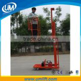 Single Person Electric Control Hydraulic Aerial Work Platform Lift Elevator Table Price For Loading 150kg
