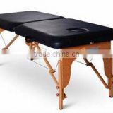 2 Section Portable Massage Table With PU/PVC Leather With CE Certificate