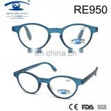 2017spring fashion blue color oval frame PC reading glasses