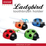 D460 Ladybird Ladybug Cute Kid Toothbrush Suction Cup Breathable Dustproof Toothbrush Accessories Wall Mounted Brush Holder                                                                         Quality Choice