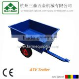 atv tow behind trailer with CE; folding utility cart trailer