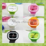 2014 Latest Flower Printed Lady/girls Dress Fashion Wrist Silicone Watches