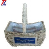 wholesale cheap grass braid stitched natural gift straw basket