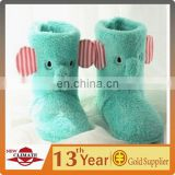 Green Elephant Plush long boots winter indoor shoes