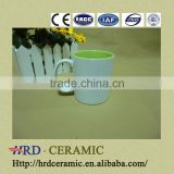 OEM design Fashion hand printed ceramic cup