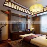 BISINI Latest Chinese Style Interior Star Hotel Bedroom Design