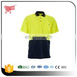 Cheap safety reflective uniform polo shirt with OEM design KF-040