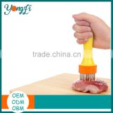 Hot Selling BPA Free Plastic Handle Stainless Steel Meat Tenderizer Tool