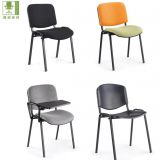 conference fabric stackable student chair with writing tablet/ classroom chair with writing pad