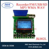 LCD usb sd fm radio 12v audio amplifier mp3 recorder sound module