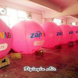 2m Height Pink Advertising Inflatable Helium Balloons for Outdoor Event