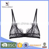 Factory in china stylish beauty lovely fancy transparent sexy teen bra