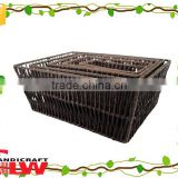 Beautiful vertical weave hollow design seagrass storage basket for bath sets,decorative seagrass basket