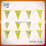 Cheap hanging triangle flags on string