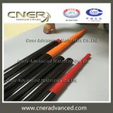 Carbon fiber solar panel cleaning telescopic pole with clamps