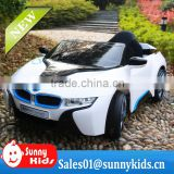 New style 12V licensed ride on car toys remote control baby battery car i8 JE168