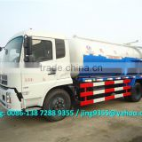 Best quality Euro IV 4x2 vacuum truck, 8-9cbm vacuum sewage tanker with vacuum pump on sale