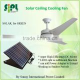 vent goods DC12V 30W 60inch Solar DC Ceiling fan for sale with solar panel (bettery system)