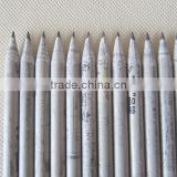 7''12 pcs HB paper pencils in paper tube