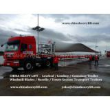 CHINA HEAVY LIFT - Windmill Blades/Nacelle/Tower Section Trailer