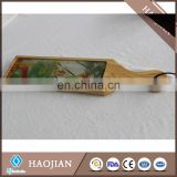 Glass cheese board kitechen bread board with wood frame wooden bread board