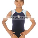 new arrival Custome kids gymnastic leotards school uniform leotard design