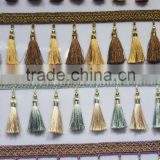 bed curtain decoration,lace trim with tassel,cushion tassel