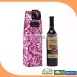 Wholesale wine bottle cooler bags, non woven cooler bag for wine, wine cooler bag