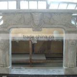 Stone fireplace design from professional factory