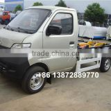 brand new chang an 4x2 gasoline small hook lift garbage truck
