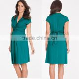 green knot front maternity dress,pregnant woman sex wholesale sexy v neck pregnant woman sex