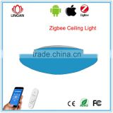 Lingan SmartRoom Zigbee lighting system phone control color changing zigbee LED ceiling lamp