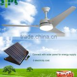 "Vent tool good quality 60"" solar power decorative ceiling fan with rechargeable system solar panel powered solar ceiling fan"