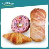 Toprank Promotion Gift Stuffed Plush Toys Cotton 3D Croissant Bread Doughnut Decorative Cushion Stuffing Chair Back Cushion