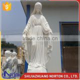 Church used large hunan white marble virgin mary garden statues NTMS-R509A